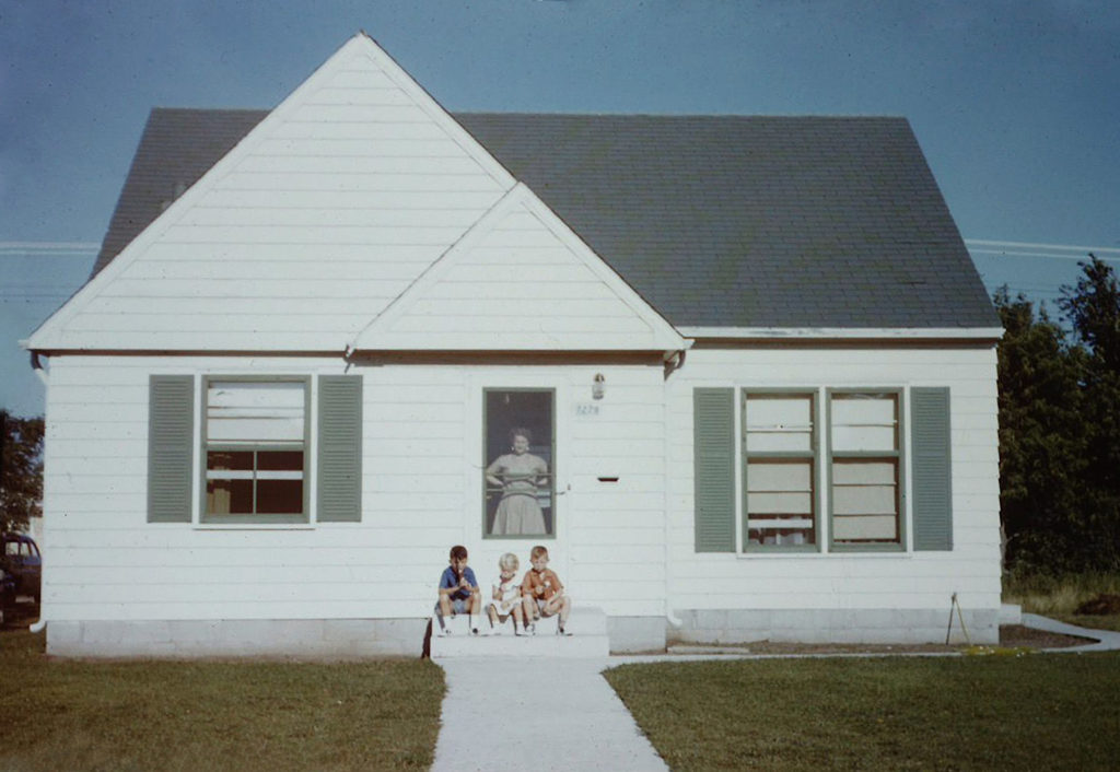 A photo of Sean's family's house in 1954