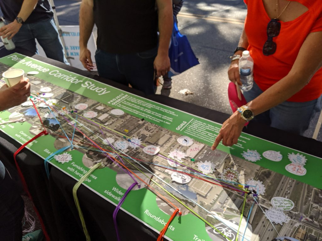Residents coming up with ideas for the Penn corridor study