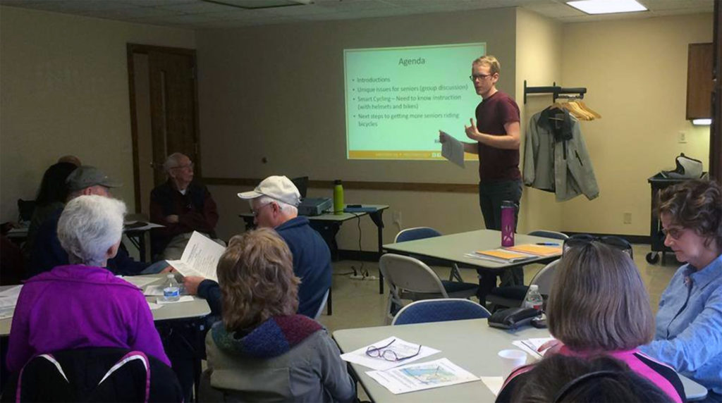 Talking to Richfield seniors about bicycle safety